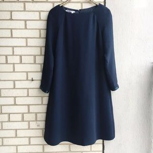 Maggy London Navy Shift Dress Boat Neck Sequin 16